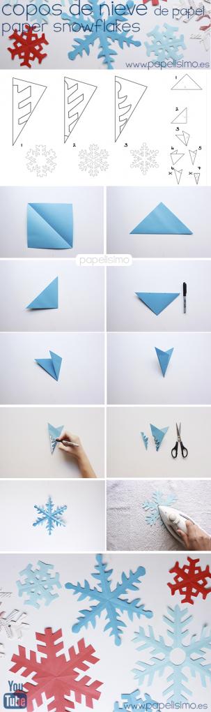 como-hacer-copos-de-nieve-de-papel-paper-snowflakes